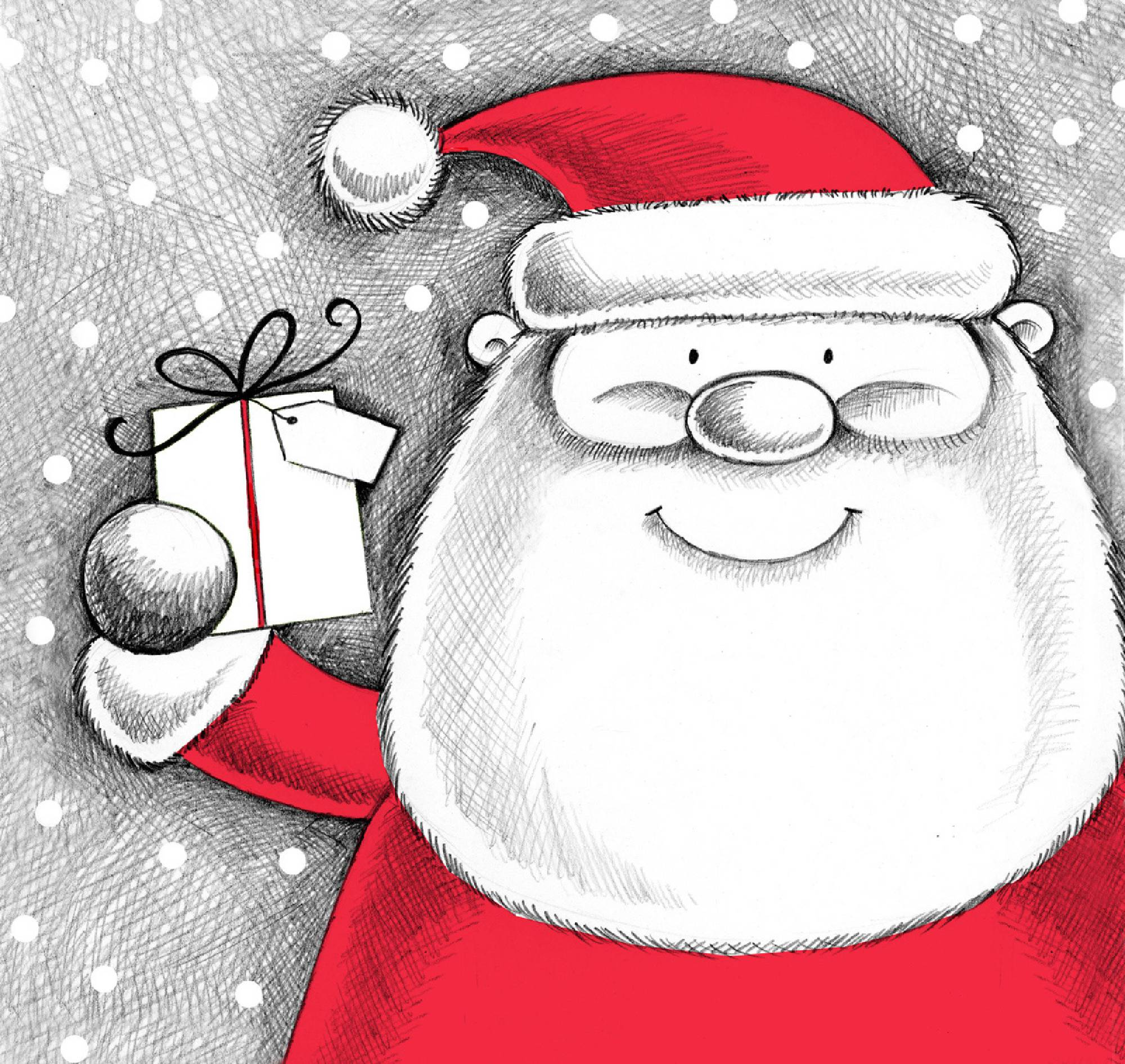 Christmas Illustrations.Illustrations For Christmas And Xmas Cards